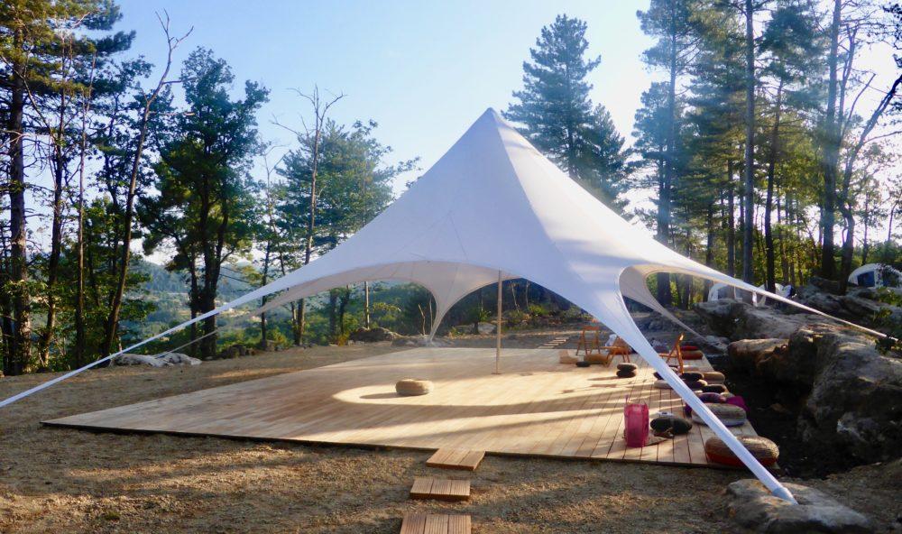 stage qi gong et méditation,  avec Ingrid au dojo nature du Domaine du Taillé en Ardèche